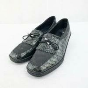 Ara Grey Oxford Snakeskin Design Loafer
